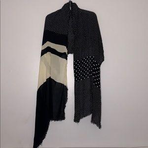 Espirt oversized mixed pattern neck scarf